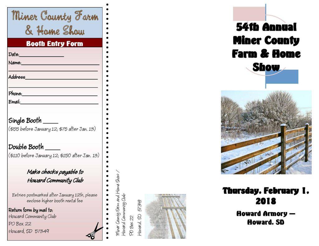 54th Annual Miner County Farm & Home Show   South Dakota